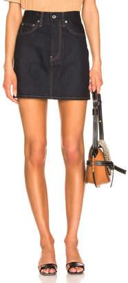 Helmut Lang Femme Mini Skirt in Indigo | FWRD