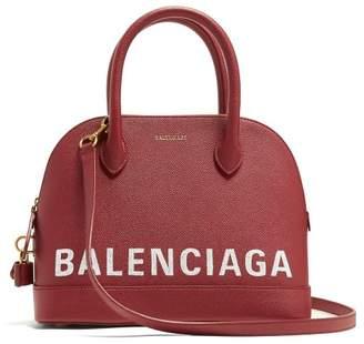 Balenciaga Ville S Leather Bag - Womens - Burgundy