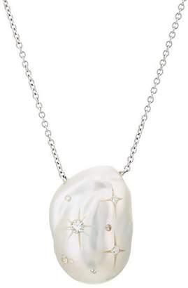 Samira 13 Women's Baroque Pearl Pendant Necklace - Pearl