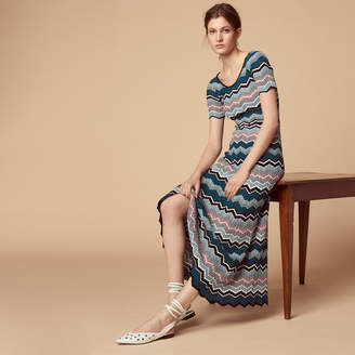 Sandro Long knit dress with stripes