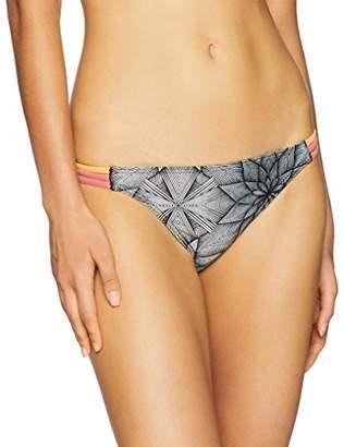 Roxy Women's Pop Surf Moderate Bikini Swimsuit Bottom, Marshmallow Stars SMA, XS