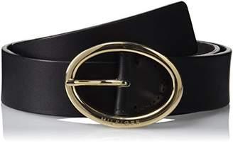 Tommy Hilfiger Women's Oval Buckle Belt 3.5,(Size:75)