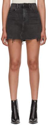 Alexander Wang Grey Bite Denim Miniskirt