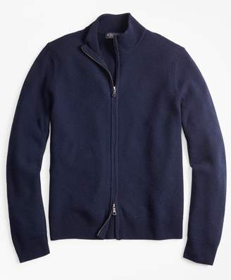 Brooks Brothers Honeycomb Stitch Full-Zip Cardigan