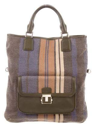 Tory Burch Striped Canvas Tote Bag