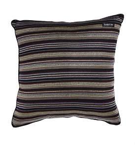 Sabatini Purple/Gold Stripe 50 x 50 Cushion