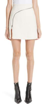 Alexander Wang Zip Detail Tweed Miniskirt