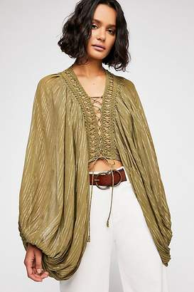 Reina Gill Lilia Lace-Up Blouse