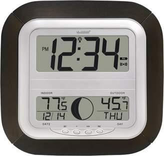 La Crosse Technology WS-8418U-IT Atomic Digital Wall Clock with Moon Phase