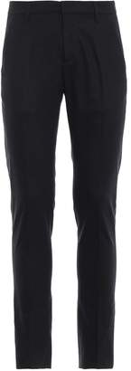 Dondup Dark Grey Stretch Wool Chino Trousers
