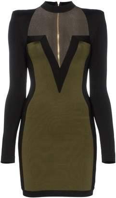 Balmain v neck mini dress