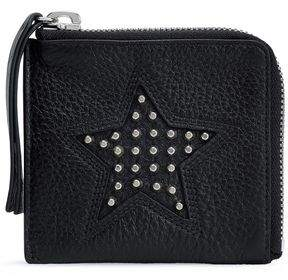 McQ Studded Pebbled-Leather Coin Purse