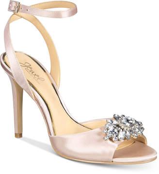JEWEL By Badgley Mischka Hayden Embellished Sandals $99 thestylecure.com