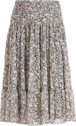 Ralph Lauren Floral Tiered Maxiskirt