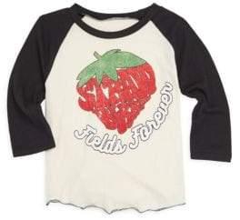 Rowdy Sprout Baby Girl's, Little Girl's & Girl's Strawberry Fields Baseball Shirt