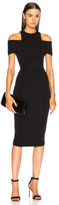 Victoria Beckham Cap Sleeve Cutout Fitted Midi Dress