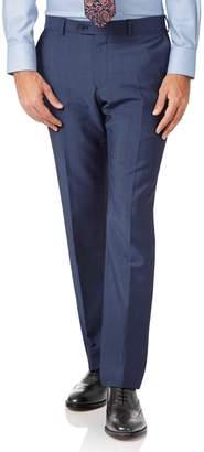 Charles Tyrwhitt Blue Slim Fit Italian Wool Luxury Suit Pants Size W36 L34