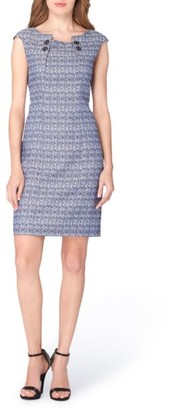 Women's Tahari Jacquard Sheath Dress $128 thestylecure.com