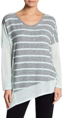 Splendid Asymmetrical Striped Tunic