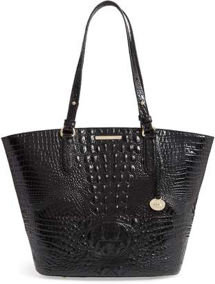 Brahmin Medium Bowie Croc Embossed Leather Tote