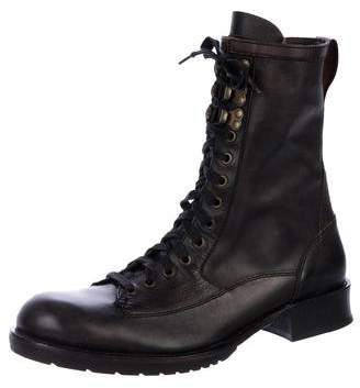 John Varvatos Tall Leather Officer Boots
