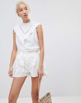New Look Frill Lace Shell