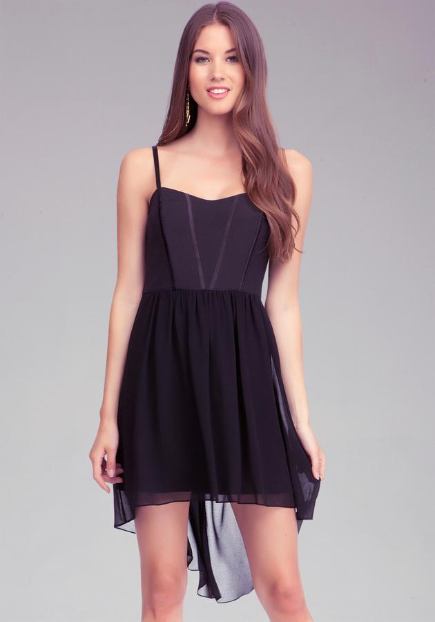 Bebe High Low Woven Dress