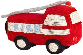 Anne Claire Hand-Crocheted Cotton Fire Truck Rattle