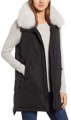 Derek Lam 10 Crosby Genuine Fox Fur Trim Down Vest