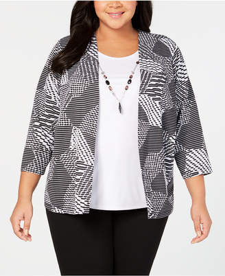 Alfred Dunner Grand Boulevard Plus Size Layered-Look Top