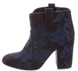 Laurence Dacade Embroidered Felt Boots