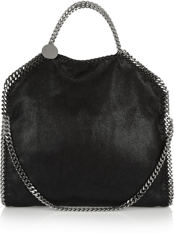 Stella McCartney Stella Mccartney The Falabella Faux Brushed-Leather Shoulder Bag