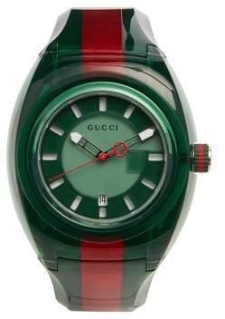 Gucci Sync Web Striped Watch - Mens - Green Multi