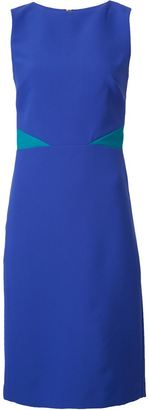 Nicole Miller contrast detail fitted dress $355 thestylecure.com