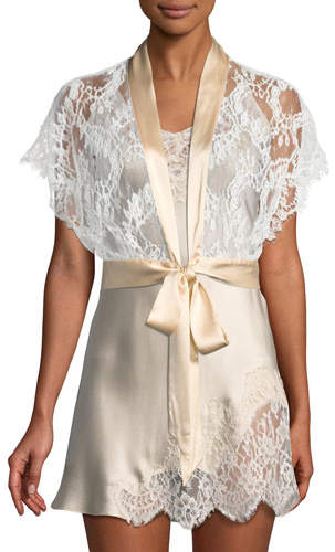 Christine Designs Ever After Lace-Trimmed Bolero Robe