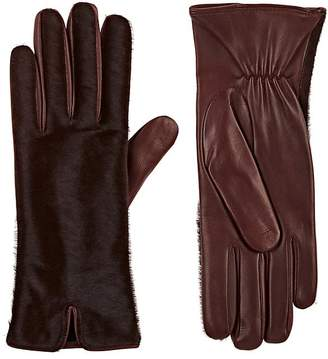 Barneys New York Women's Calf Hair & Leather Gloves