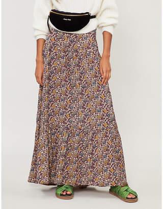 BA&SH Floral-print crepe maxi skirt