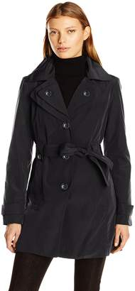 London Fog Women's S/B Belted Trench with Hood