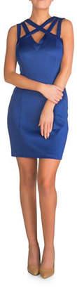 GUESS Woven Scuba Sheath Dress