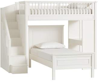 Pottery Barn Kids Stair Loft Bed & Lower Bed Set