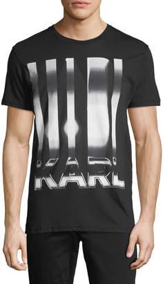 Karl Lagerfeld Steel Logo Crewneck Tee