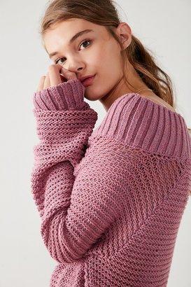 Kimchi Blue Kelli Off-The-Shoulder Sweater $69 thestylecure.com