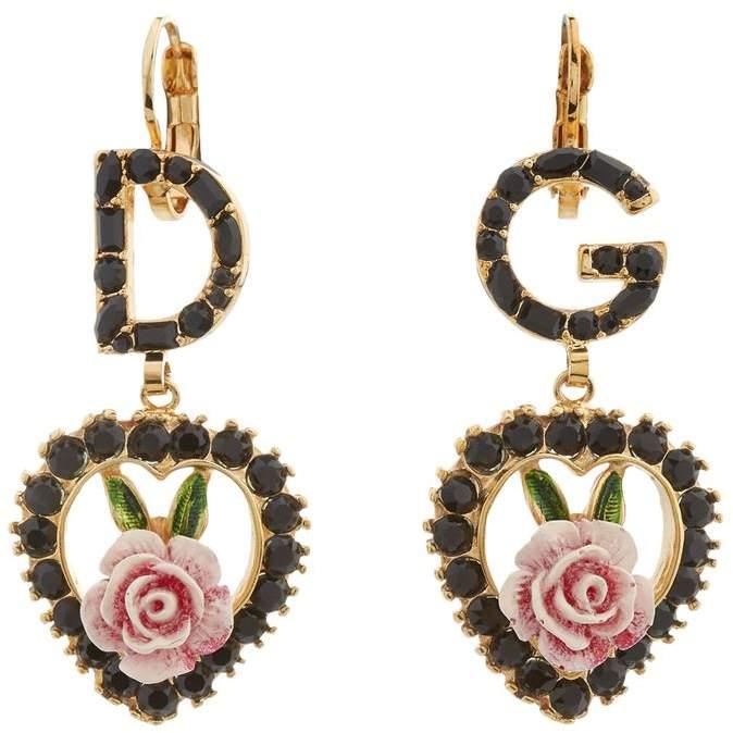 Heart Drop Logo Earrings