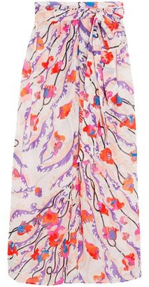 Emilio Pucci Ranuncoli Printed Cotton-Voile Maxi Skirt