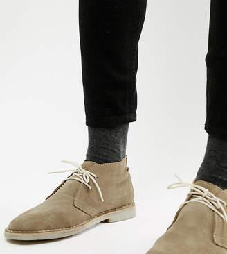 Asos Design DESIGN desert boots in stone suede