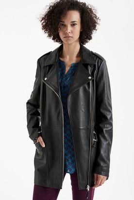 Long Tall Sally Longline Leather Jacket