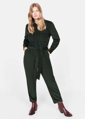 MANGO Violeta BY Corduroy long jumpsuit khaki - XS - Plus sizes