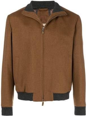 Corneliani zipped bomber jacket