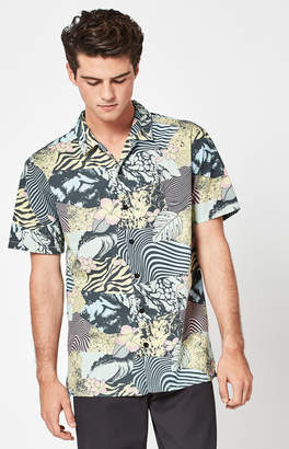 T&C Surf Designs Collage Short Sleeve Button Up Shirt