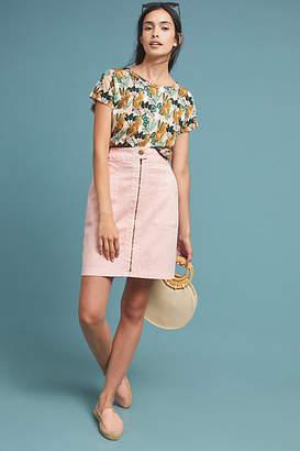 Amadi Zip-Front Pencil Skirt